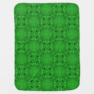 Celtic Clover  Tiled Design Baby Blankets Pramblanket