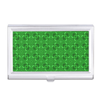 Celtic Clover Vintage Business Card Case