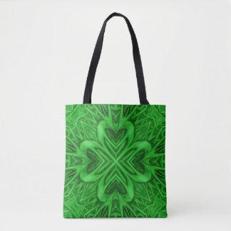 Celtic Clover Vintage Kaleidoscope    Tote Bag