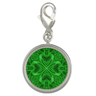 Celtic Clover Vintage Pattern  Charm
