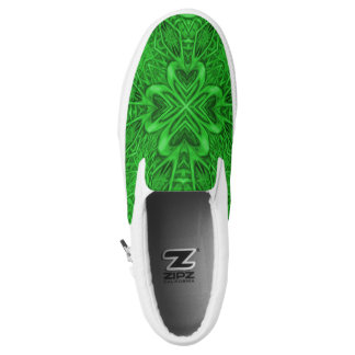 Celtic Clover Zipz Slip On Shoes, US Men & Women