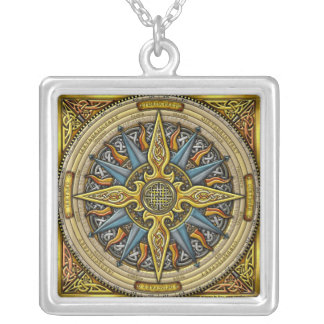 Celtic Compass Pendant Necklace