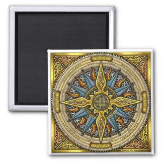Celtic Compass Square Magnet