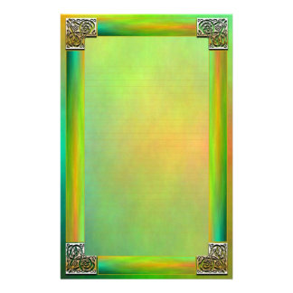 """""""Celtic Corners Two"""" Fine Lined Stationery Custom Stationery"""