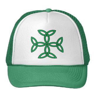 Celtic Cross 11 Green Mesh Hats