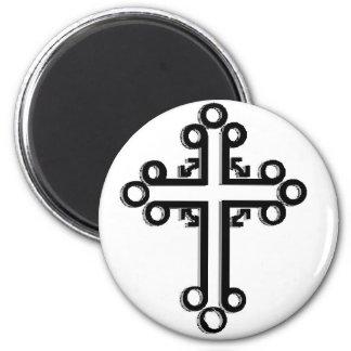 Celtic Cross 6 Cm Round Magnet