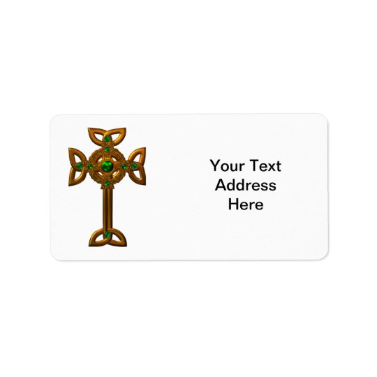 Celtic Cross Address Label
