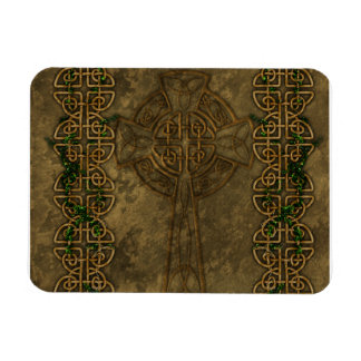 Celtic Cross and Celtic Knots Rectangular Photo Magnet