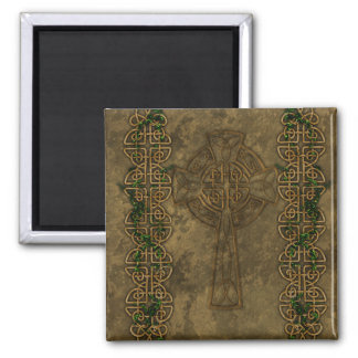 Celtic Cross and Celtic Knots Square Magnet