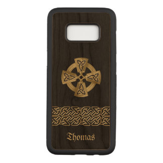 Celtic Cross and Chain Personalized Carved Samsung Galaxy S8 Case