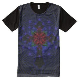 Celtic Cross and Rose All-Over Print T-Shirt