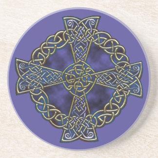 Celtic Cross Beverage Coaster