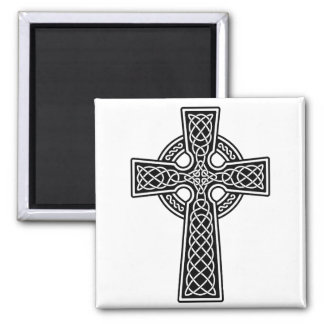 Celtic Cross black and white Refrigerator Magnet