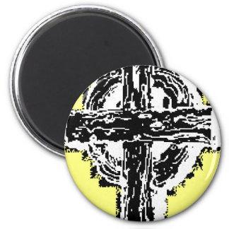 Celtic Cross Button Magnet