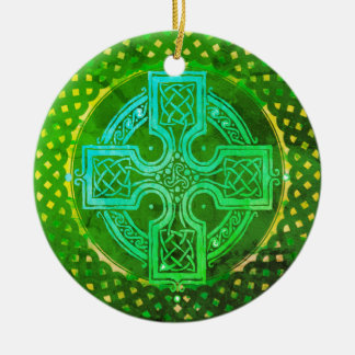 Celtic Cross Ceramic Ornament