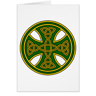 Celtic Cross Double Weave Green Card