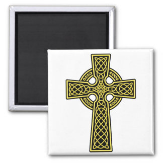 Celtic Cross gold and black Refrigerator Magnets