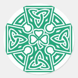 Celtic Cross III Round Sticker