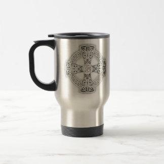 Celtic Cross Irish Steel Travel Coffee Mug