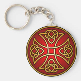 Celtic cross key ring