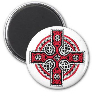 Celtic Cross Magnet1 6 Cm Round Magnet