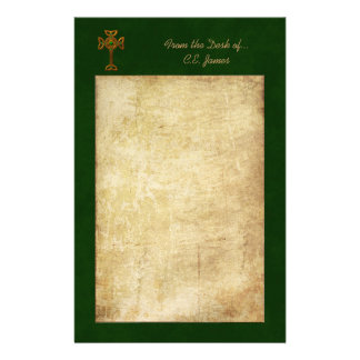 Celtic Cross & Parchment Stationery