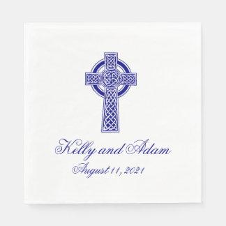 Celtic Cross Personalized Wedding Paper Napkin