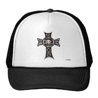 Celtic Cross & Skull (Silver) Cap