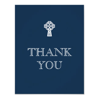 Celtic Cross Thank You Card - Boy First Communion