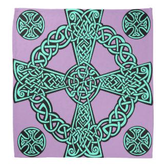 Celtic cross turquoise lavender knot bandana