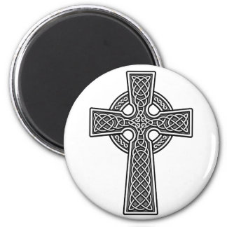Celtic Cross white and grey Magnets