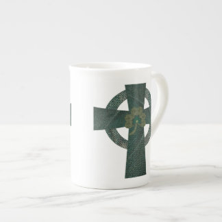 Celtic Cross with Shamrock Tea Cup