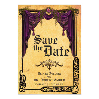 Celtic Curtain Wedding Save the Date invitation