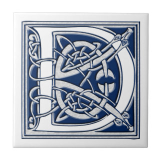 Celtic D Monogram Ceramic Tile