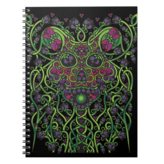 Celtic Day of the Dead Skull Spiral Notebook
