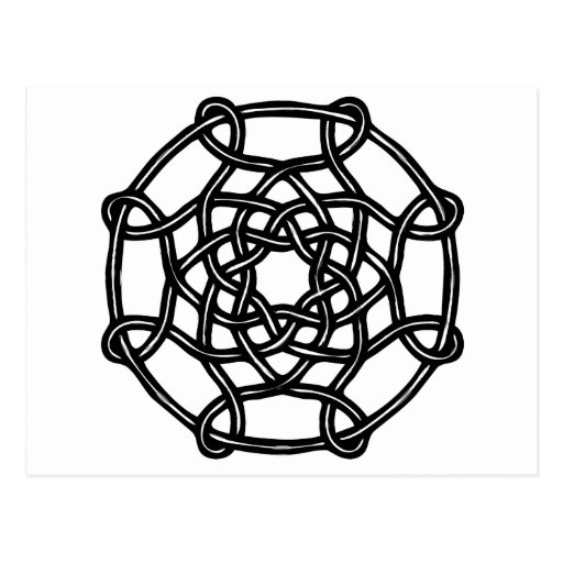 Celtic Design - Basic Round Knot Postcard