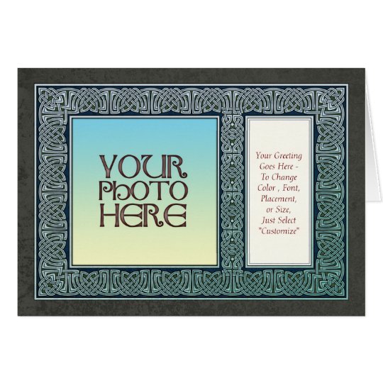 Celtic Design Border  Photo Frame Greeting Card