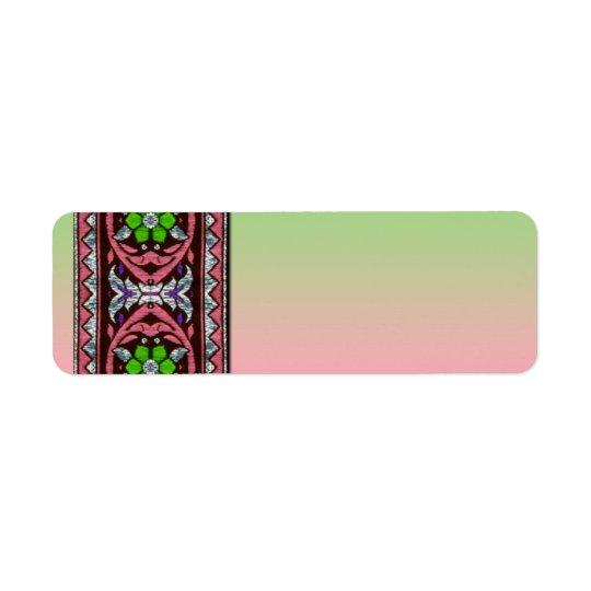 Celtic Design in Green Pastel Return Address Label