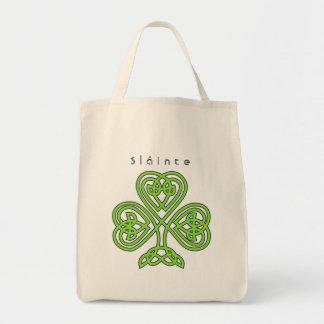 Celtic Design Shamrock St. Patrick's Day Slainte Tote Bag
