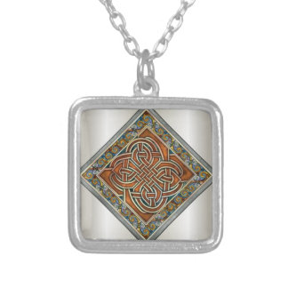Celtic design silver plated necklace