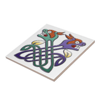 Celtic Design Split Heads Ceramic Tile