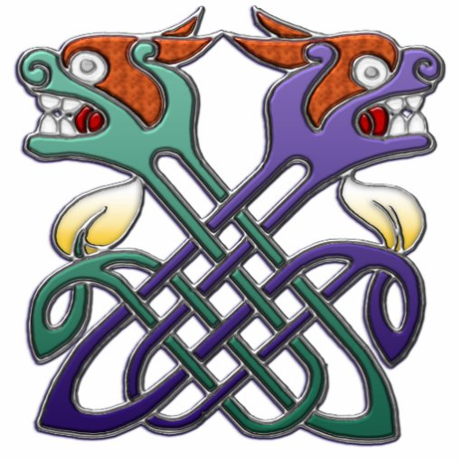 Celtic Design Split Heads Photo Cutout