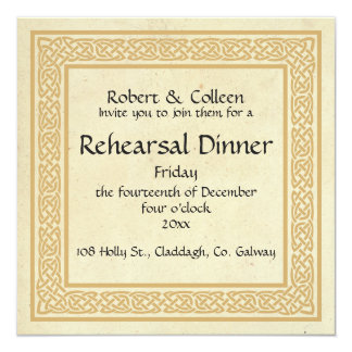 Celtic Design Wedding Rehearsal Dinner Card