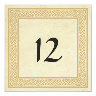 Celtic Design with Claddagh Wedding Table Number