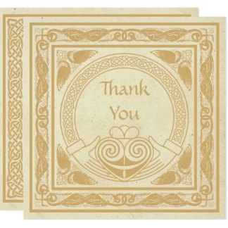 Celtic Design With Claddagh Wedding Thank You Card