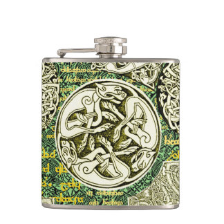 Celtic Dogs Flask