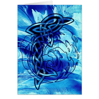 Celtic Dolphin Card