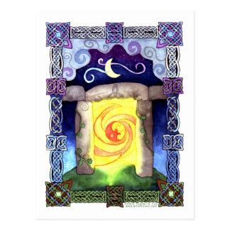 Celtic Doorway Postcard