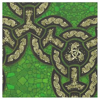 Celtic Dragon Chain Grande in Dark Green Fabric