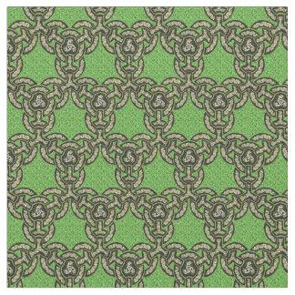 Celtic Dragon Chain in Green Fabric